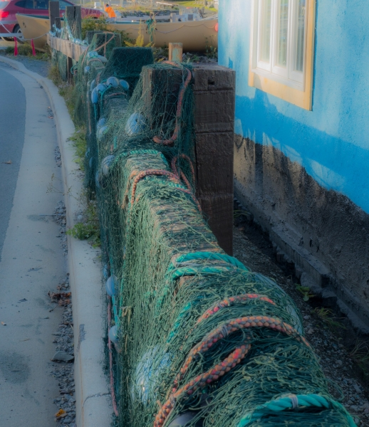 Drying Fishing Nets at Quidi Vidi