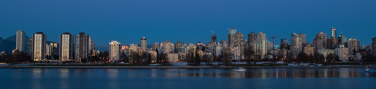 Vancouver, West End at Dusk (876)