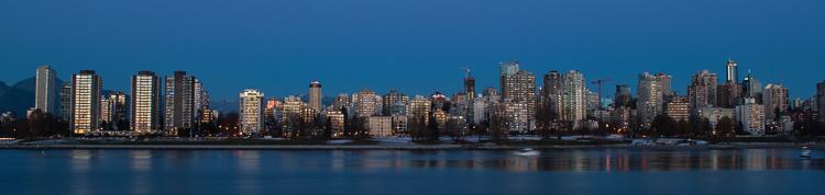 Vancouver, West End at Dusk (876)