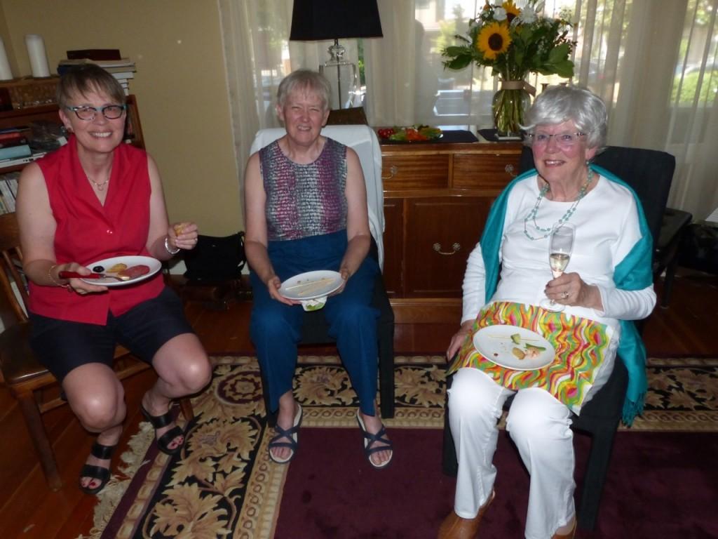 Penny, Kate and Shelagh-Ann