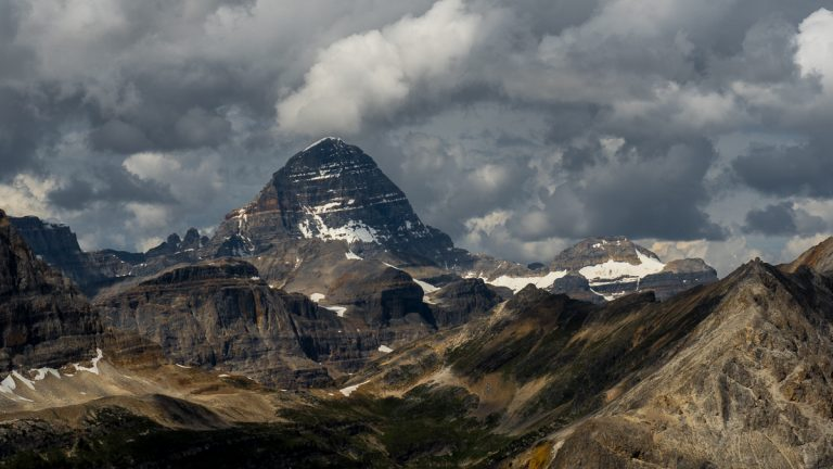 Mount Assiniboine With Storm Clouds (095)