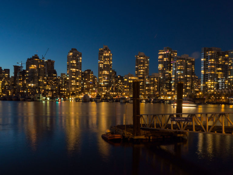 Downtown Vancouver from False Creek