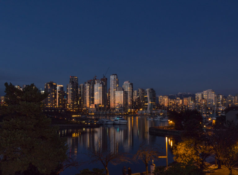 Sun Setting on Vancouver, BC