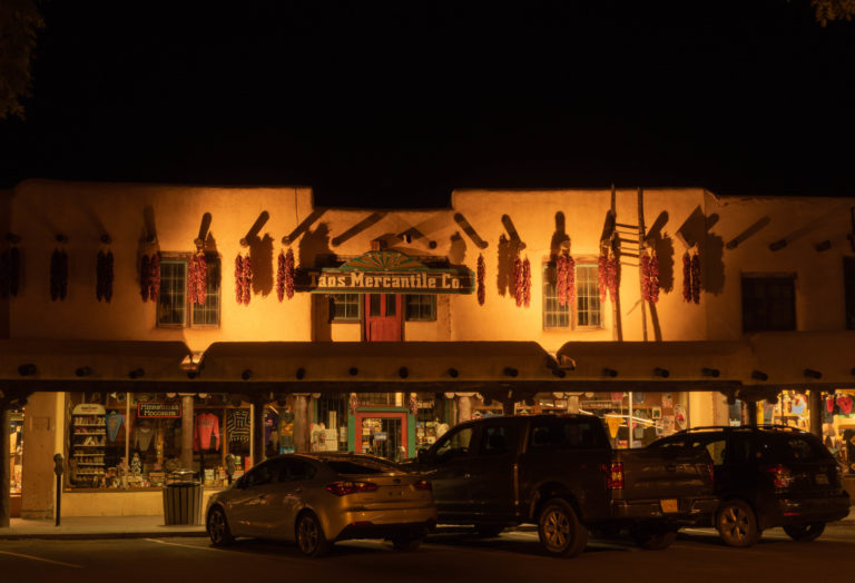 Taos Plaza at Night (1845)
