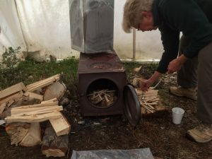 Marilyn Lighting the Woodstove (216)